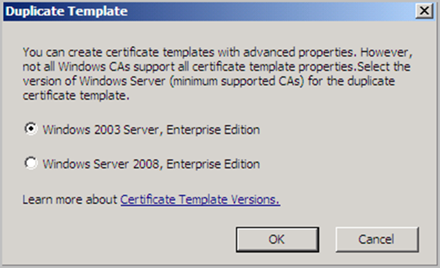Windows 2008 pki certificate authority ad cs basics corelan team you can now change all of the templates parameters dont forget to set a unique template display name and template name in the template name yelopaper Image collections