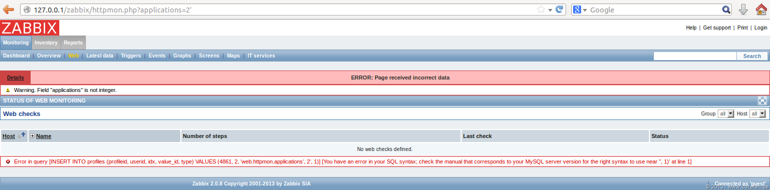Zabbix SQL Injection/RCE – CVE-2013-5743 | Corelan Team